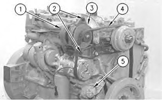 3116 and 3126 truck engines alternator remove and install  3126 cat engine belt diagram #12