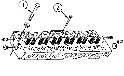 3116 and 3126 Truck Engines Cylinder Head – Install