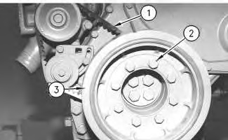 3116 and 3126 Truck Engines Vibration Damper and Pulley