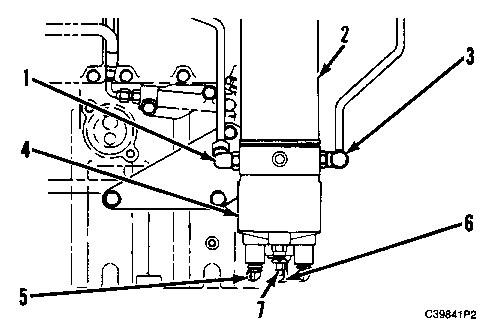 3100 heui diesel truck engine fuel heater and water separator