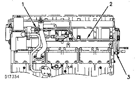 3116 and 3126 truck engines fuel lines group