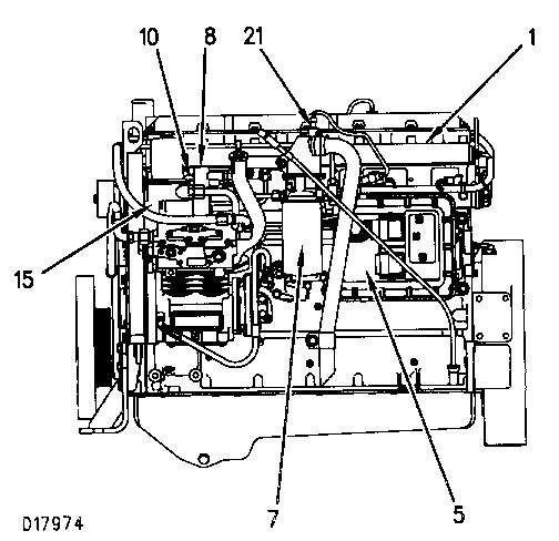 3100 heui diesel truck engine fuel system