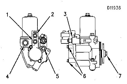 3116 And 3126 Truck Engines Hydraulic Pump Group Fuel