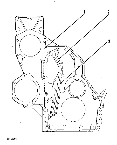 3116 And 3126 Truck Engines Front Housing