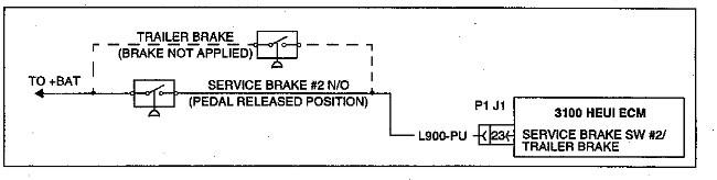 3100 Heui Troubleshooting Service Brake  2 Switch Circuit
