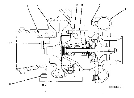 3116 And 3126 Truck Engines Turbocharger Disassemble
