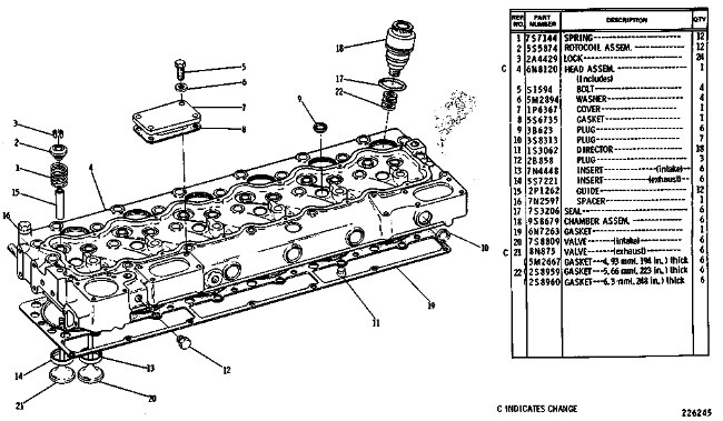 3306 INDUSTRIAL ENGINE CYLINDER HEAD GROUP | Caterpillar ... on industrial ac system diagram, industrial dc motor diagram, industrial furnace diagram, industrial valve diagram,